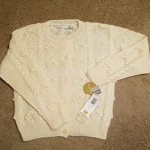 NWT Medium Ivory Liz Claiborne Button Down Sweater